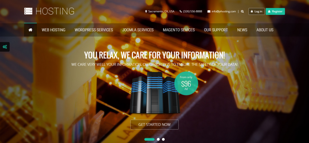 Hosting Multipurpose Joomla Template