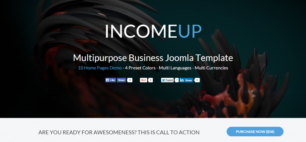 IncomeUp Multipurpose Business Joomla Template