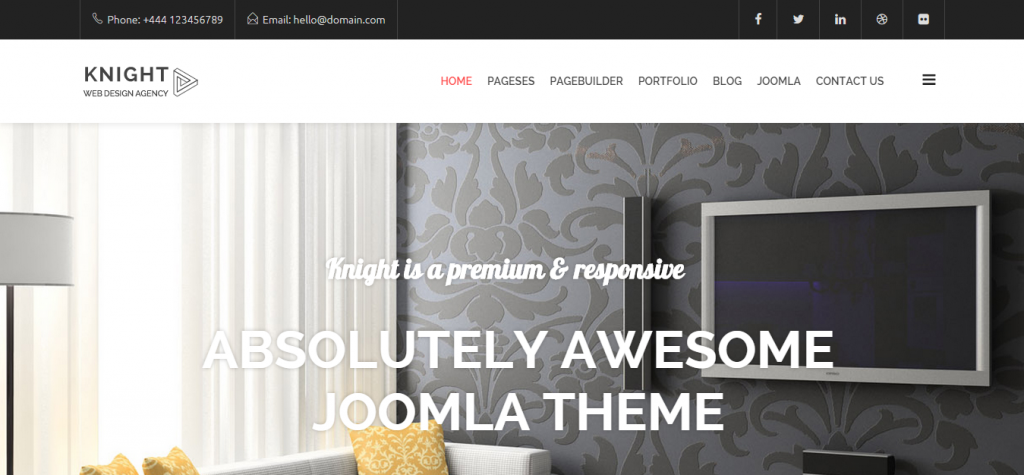 Knight Responsive Multi-Purpose Joomla Theme