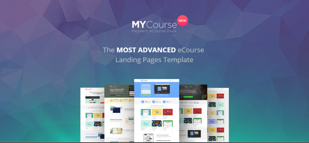 MYCourse Pagewiz eCourse Landing Pages Pack
