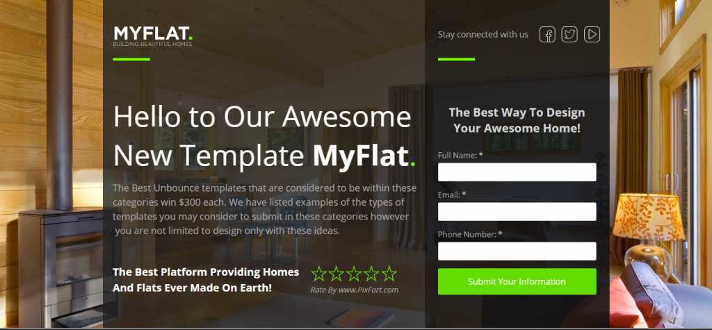 MYFLAT Real Estate Pagewiz Template