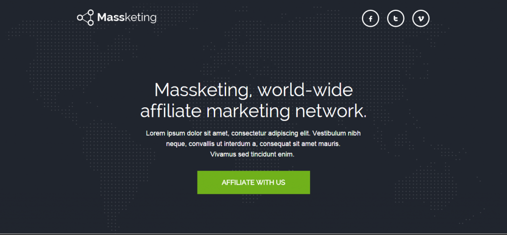 Massketing Pagewiz Landing Page Template
