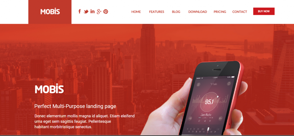 Mobis Multi-Purpose Landing Page Template