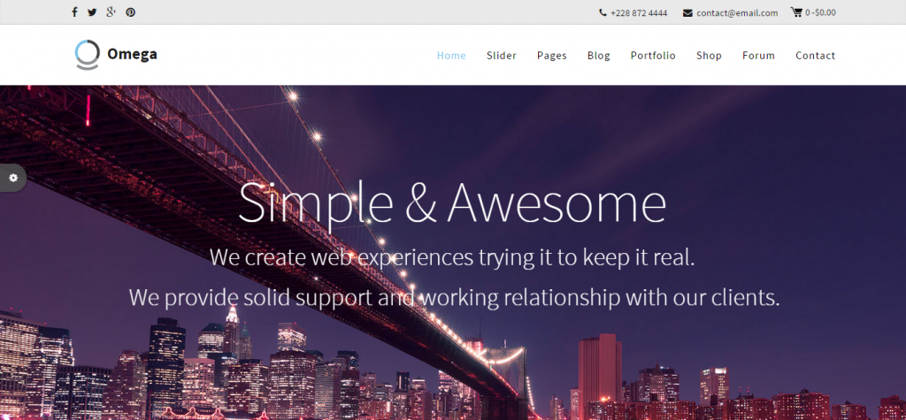 Omega Multipurpose Business Joomla Template