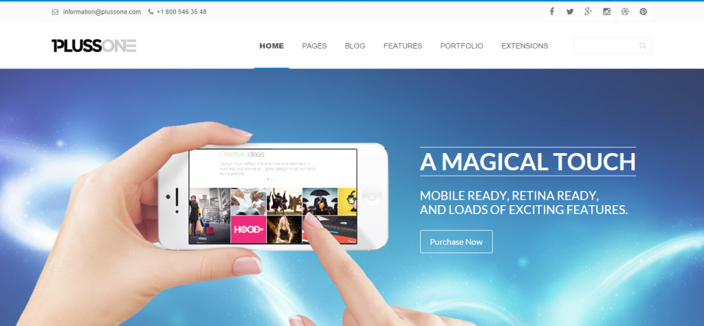 Plussone Joomla Business Template
