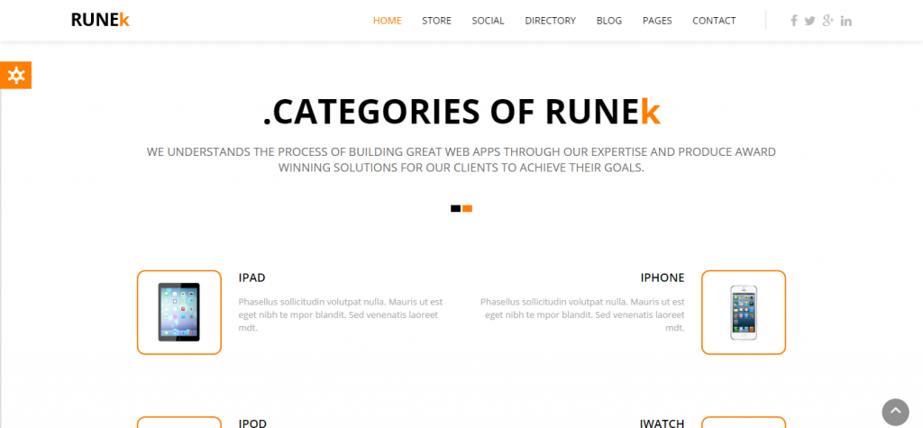 Runek Multipurpose and Responsive Joomla theme