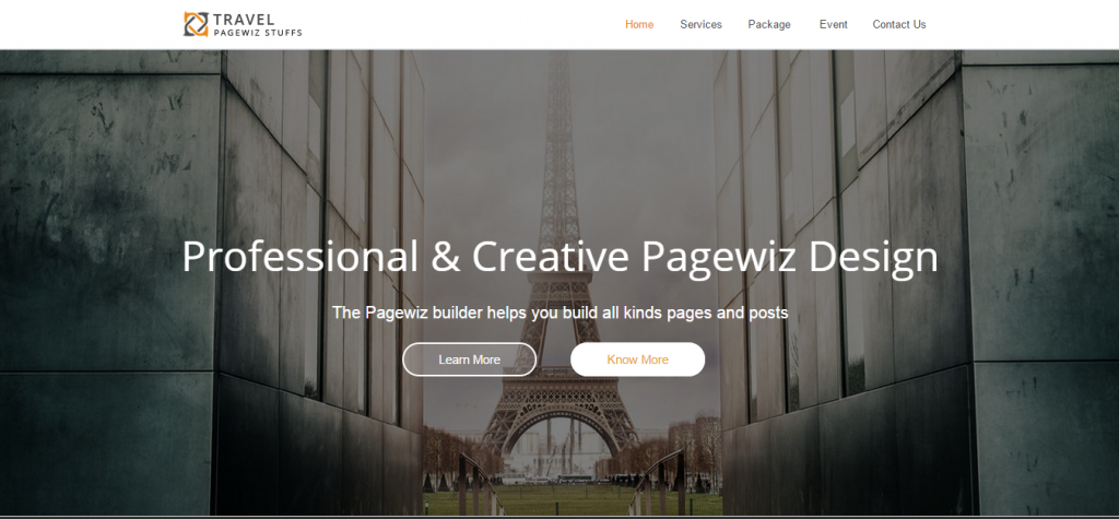 Travel Tour Pagewiz Landing Page