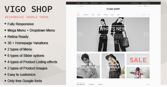Vigo Shop Responsive & Multipurpose Joomla Theme