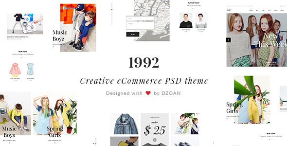 1992 Creative eCommerce PSD Theme