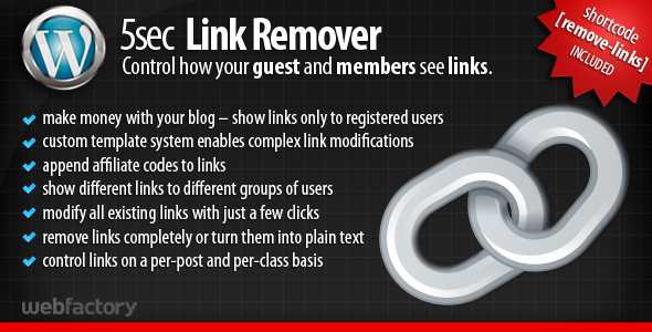 5sec Link Remover a membership extension plugin