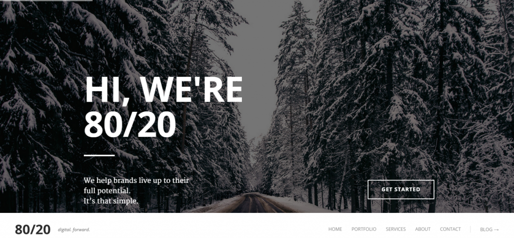 80 20 Responsive Joomla One-Page Template