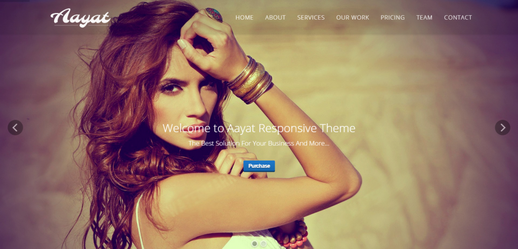 Aayat One Page Multi-Purpose Parallax Template