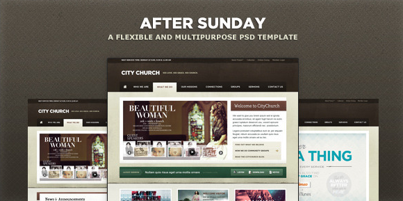 After Sunday Template [PSD] Flexible and Multipurpose