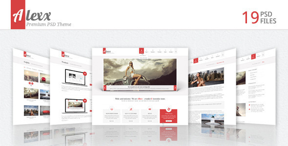 Alexx Multipurpose PSD Theme