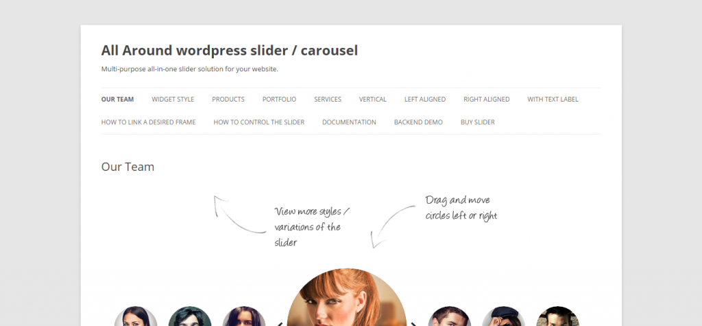 All Around WordPress Content Slider Carousel