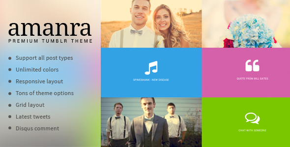 Amanra Responsive Grid Photography Tumblr Theme