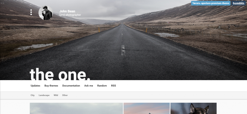 Aperture Creative Portfolio with Parallax Cover