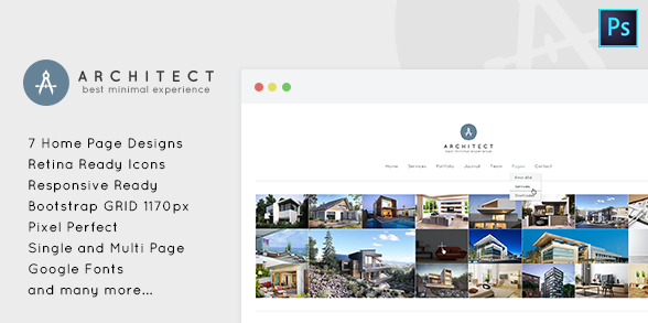 Architect Minimal PSD Template for Architects