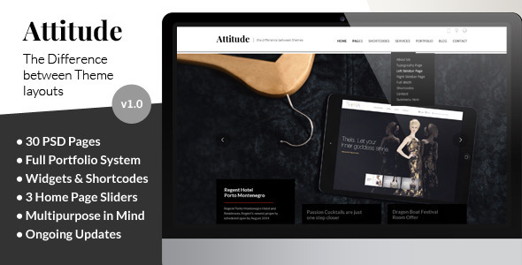 Attitude Multipurpose Website PSD Template