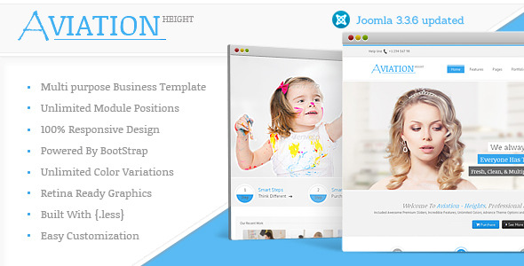 Aviation Responsive Multi-Purpose Joomla Theme