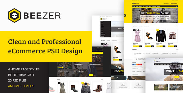 BEEZER eCommerce PSD Template