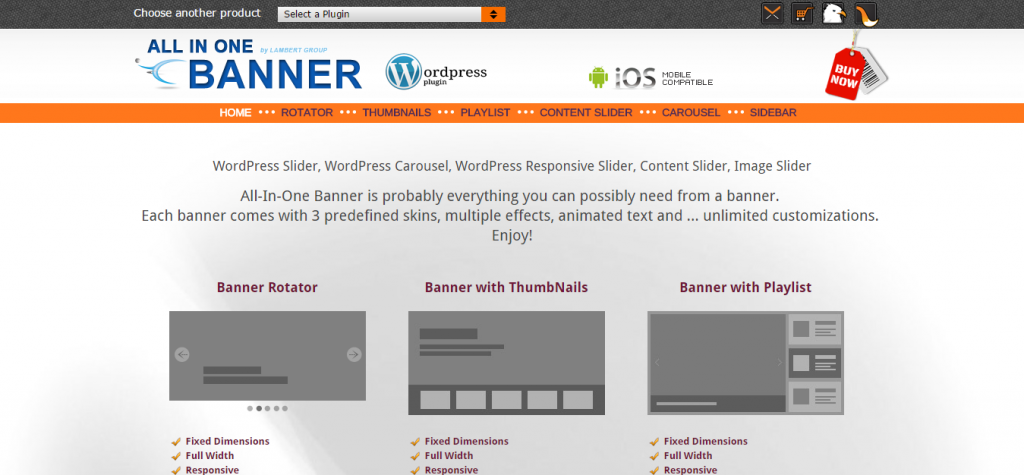 Banner Rotator Content Slider WordPress Plugin