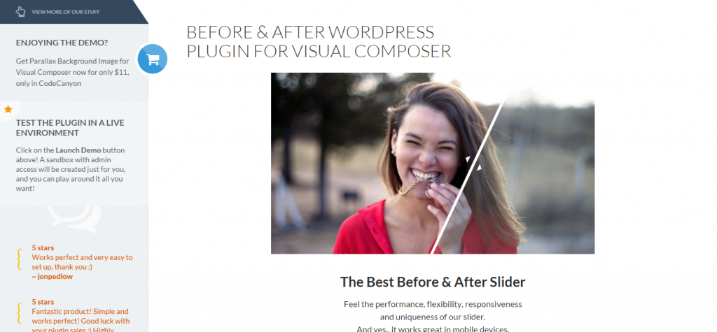 Before & After Image Slider for Visual Composer