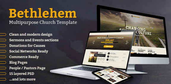 Bethlehem Multipurpose Church PSD Template
