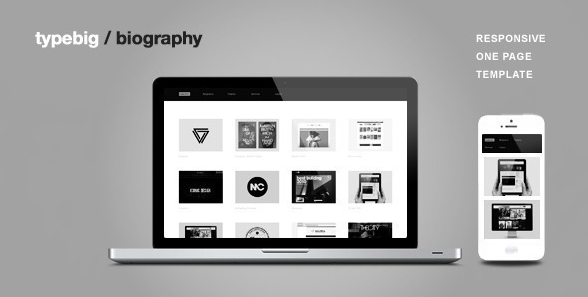 Biography One Page Portfolio Joomla Template
