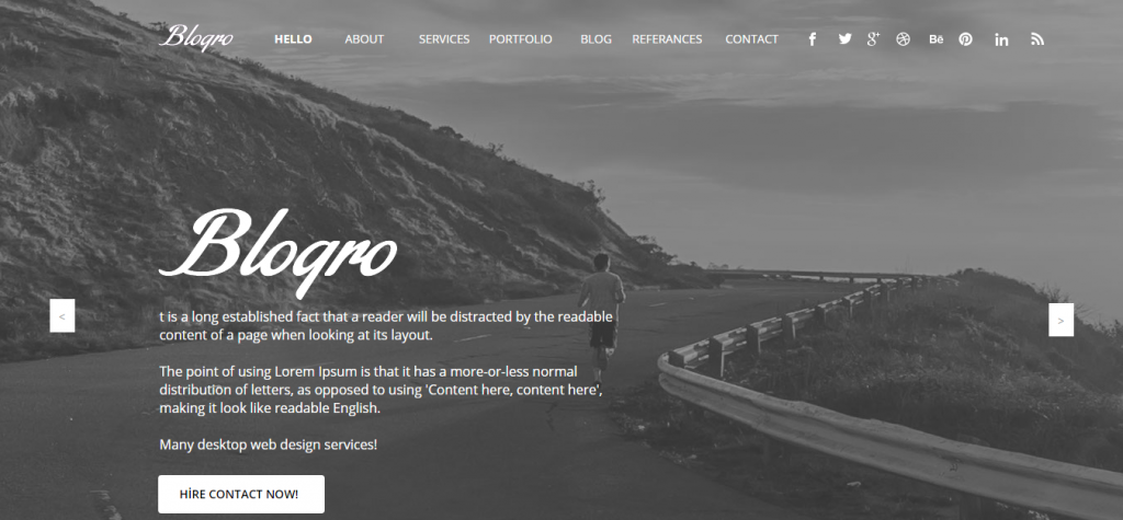 Blogro One Page Personal Muse Templates
