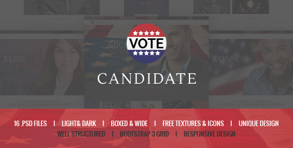 Candidate Political PSD Template