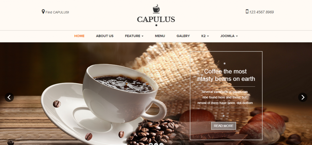 Capulus A Multi Purposes Coffee Style Joomla Template