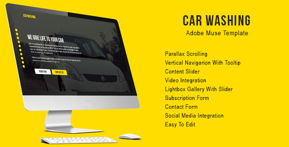 Car Washing Muse Template