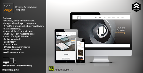 Cascage Creative agency Muse Template