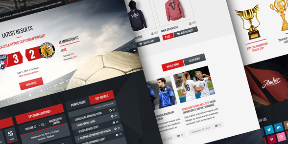Champion Soccer and Football PSD Template