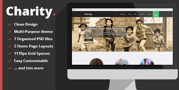 Charity Multi Purpose Non-Profit PSD Theme