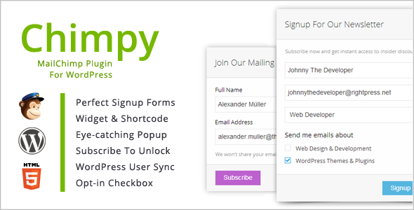 Chimpy MailChimp WordPress Plugin