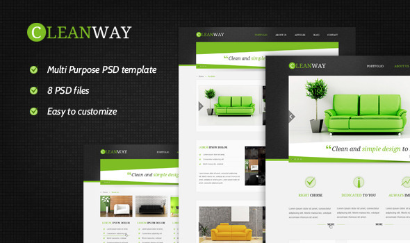 Cleanway Multipurpose PSD Theme