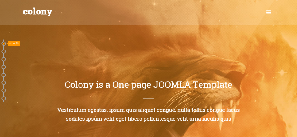 Colony One page Multipurpose JOOMLA Template