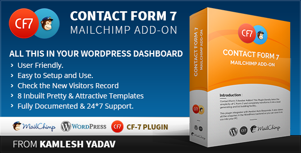 Contact form 7 Mailchimp Add-on