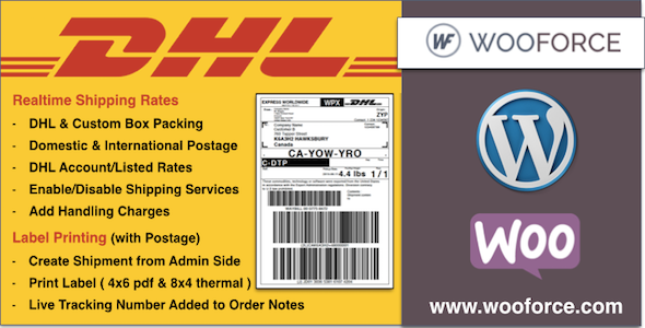 DHL WooCommerce Shipping with Print Label