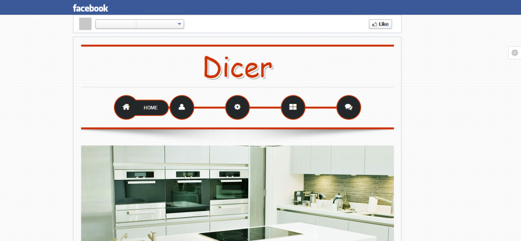 Dicer HTML5 Facebook Template