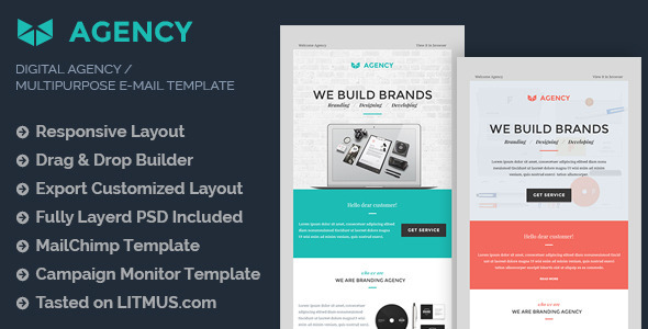 Digital Agency E-mail Template Builder Access