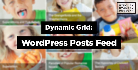 Dynamic Grid WordPress Posts Feed Slider