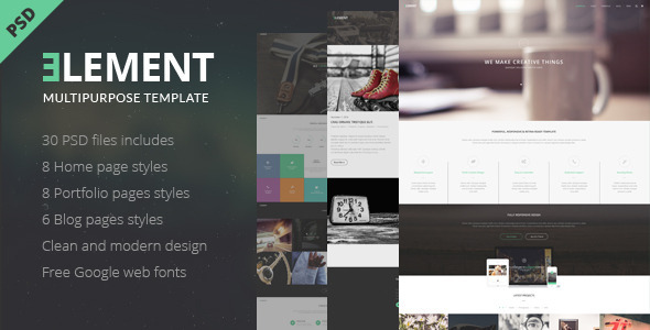 ELEMENT Multipurpose PSD Template