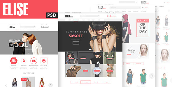 Elise Fashion PSD Template