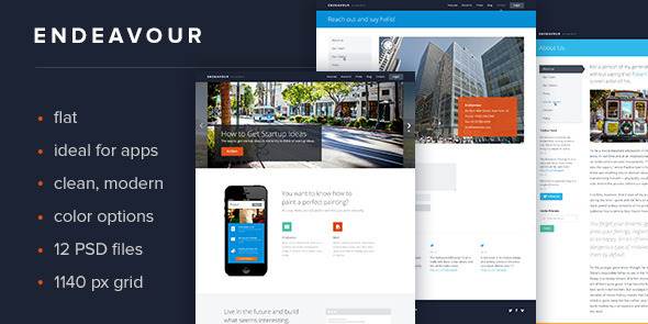 Endeavour Flat Multipurpose Template