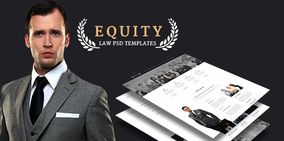 Equity Elegant Lawyer and Attorney PSD Template