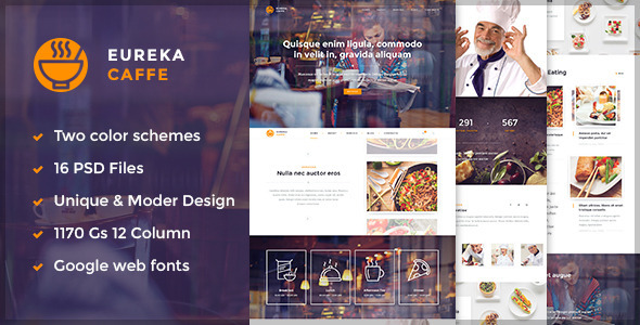 Eureka Multipurpose PSD Template