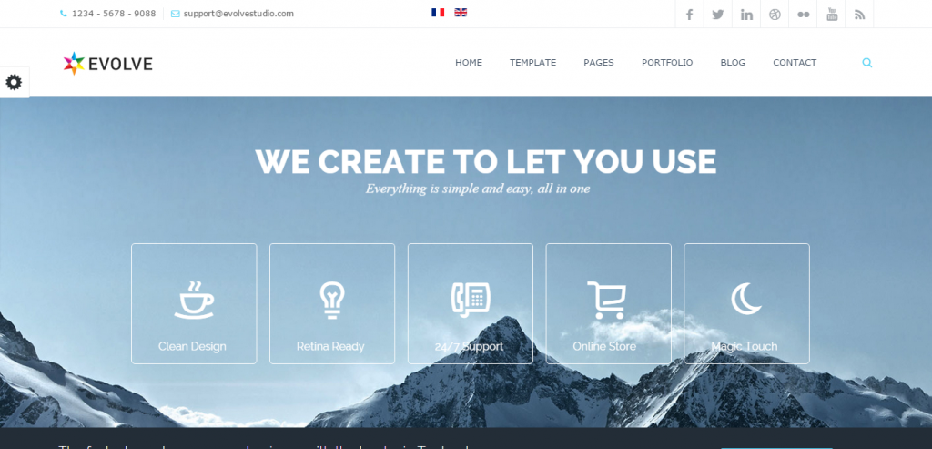Evolve Responsive Multi-Purpose Website Template